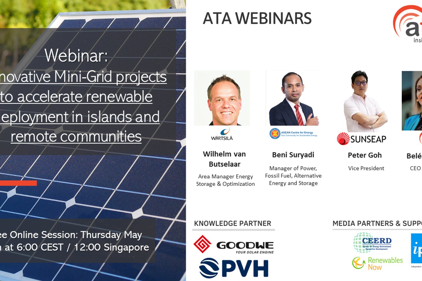 Webinar: Innovative mini-grid projects to accelerate renewable deployment in islands and remote communities