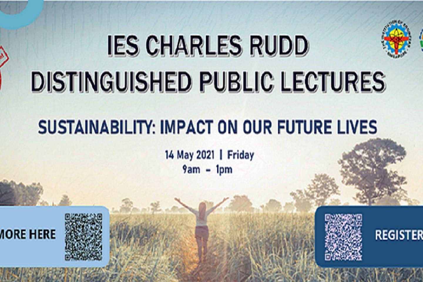 IES Charles Rudd distinguished public lectures 2021 sustainability: Impact on our future lives