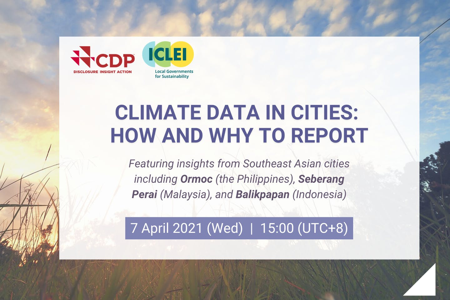 [Webinar] Climate data in cities: How and why to report