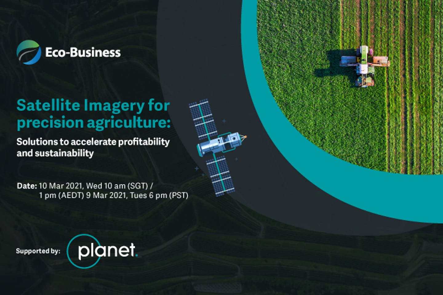 Satellite imagery for precision agriculture: Solutions for profitability and sustainability [Virtual]