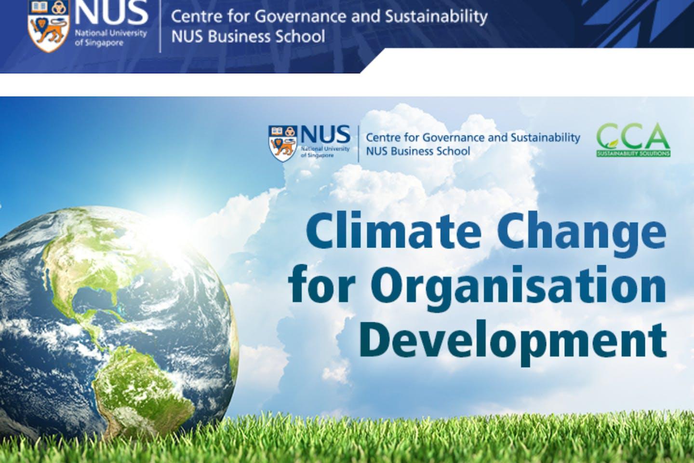 Online executive development programme (EDP) – Climate change for organisation development
