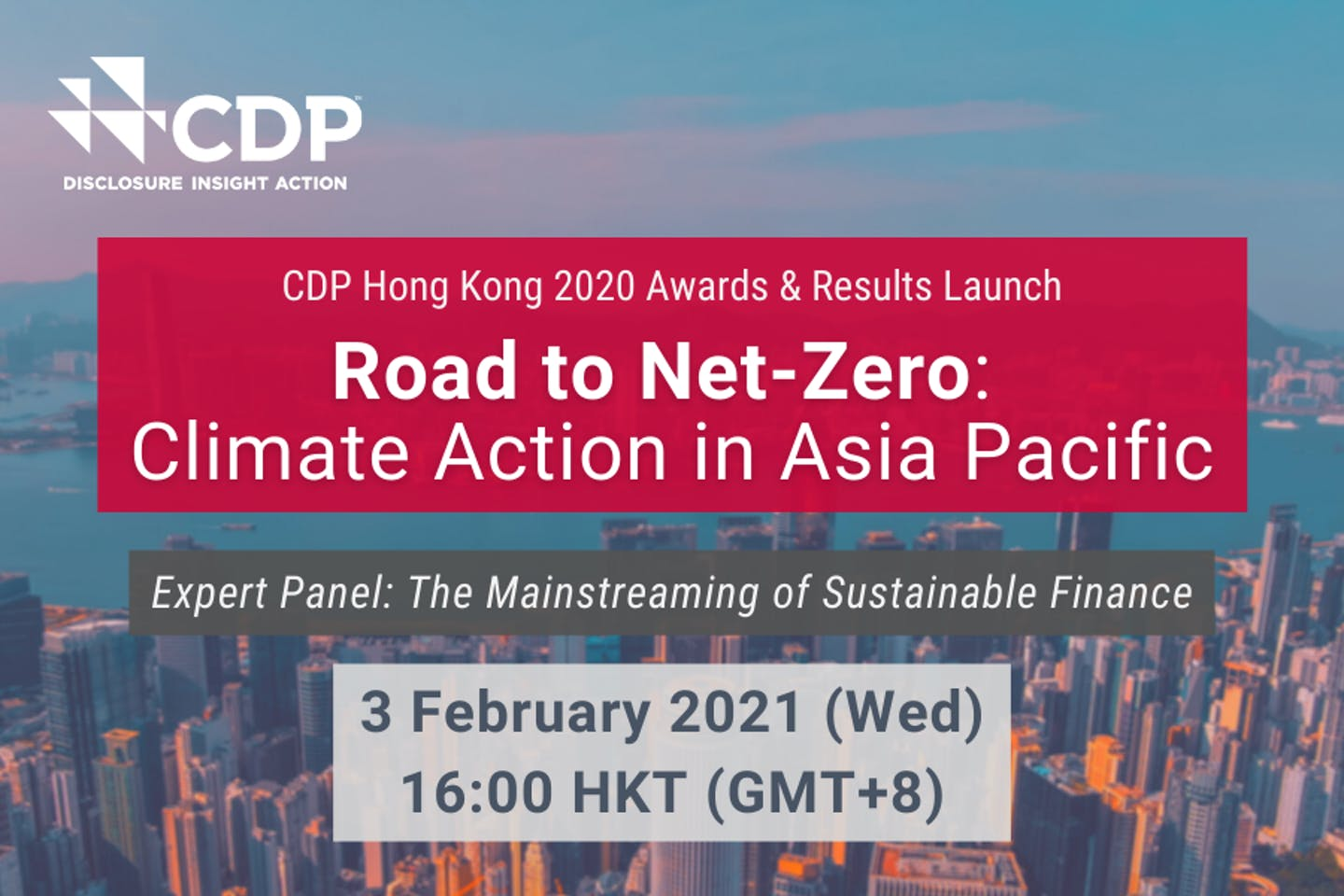 [Webinar] Road to Net-Zero: Climate Action in Asia Pacific | 3 February | CDP Annual Awards Launch