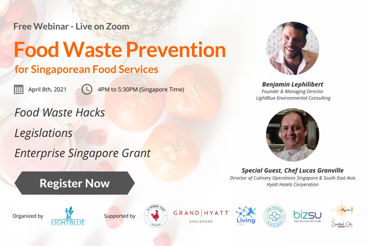 Food waste prevention for Singaporean food services (FREE Webinar)