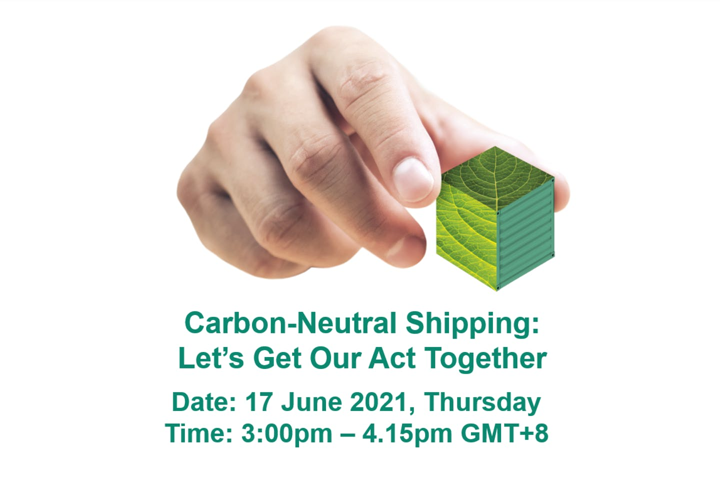 Carbon-neutral shipping: Let's get our act together