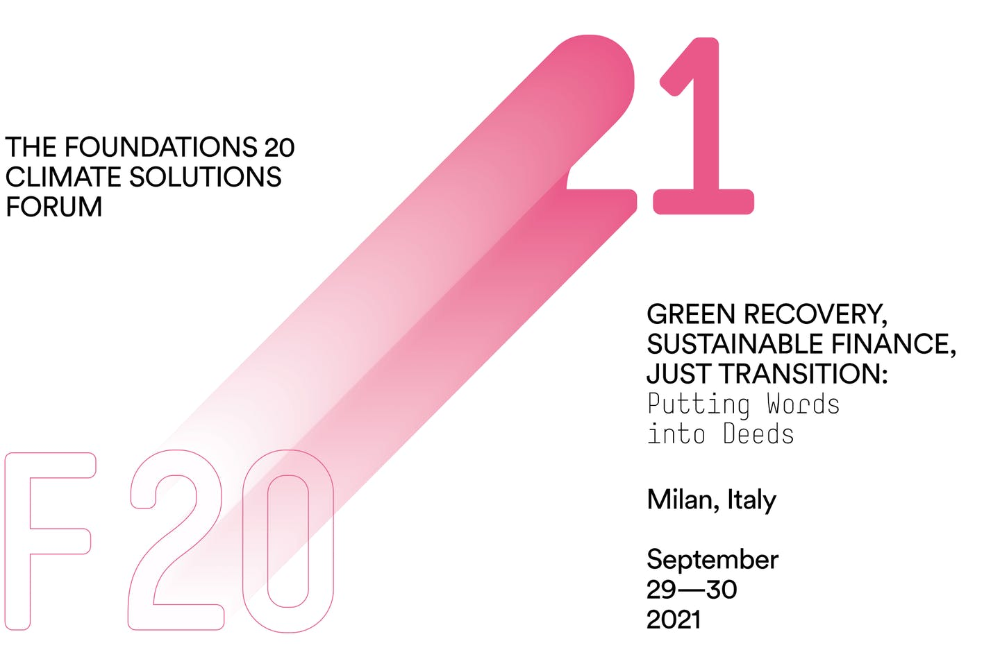 F20 Climate Solutions Forum 2021