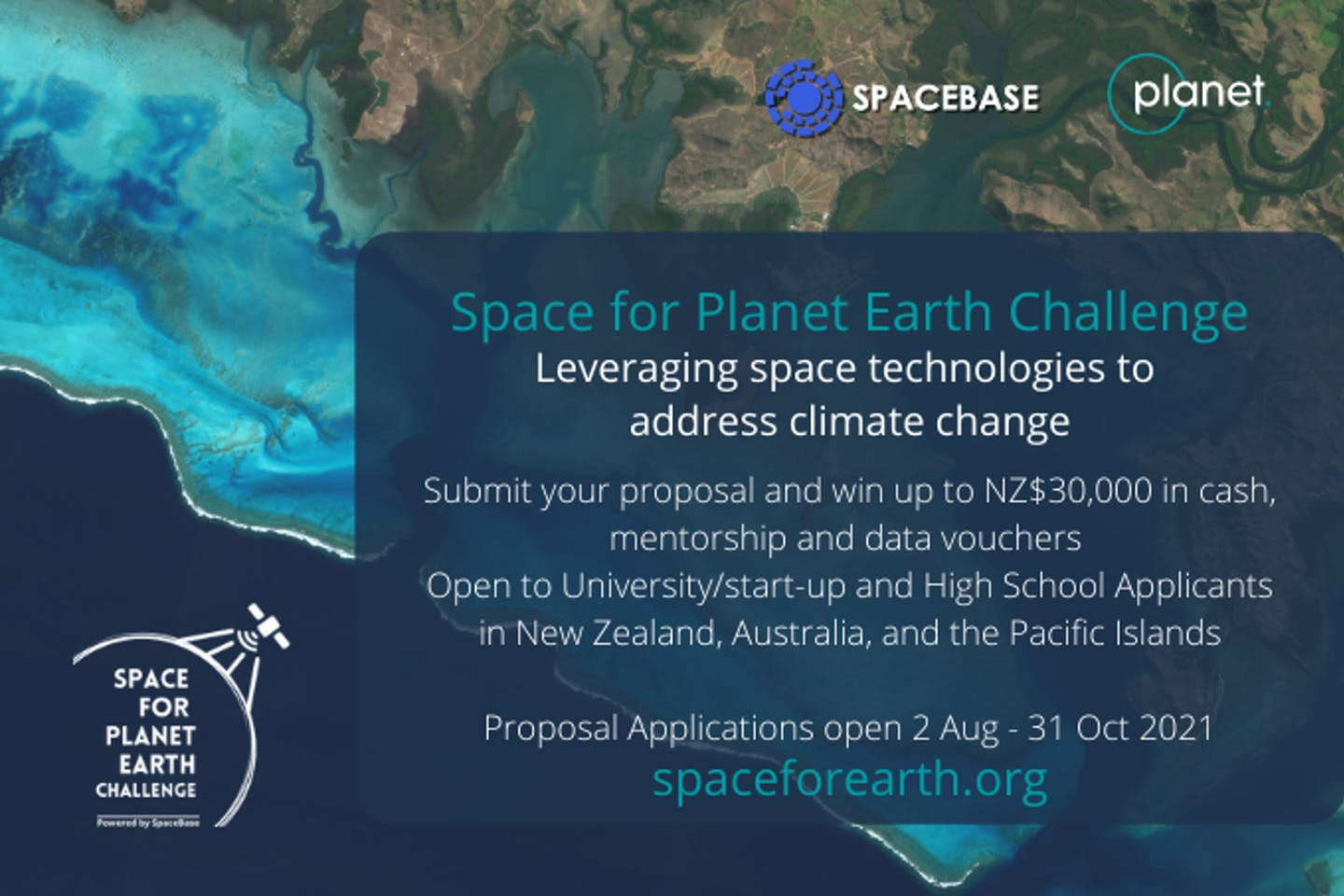 SpaceBase x Planet's Space for Planet Earth Challenge Call For Application