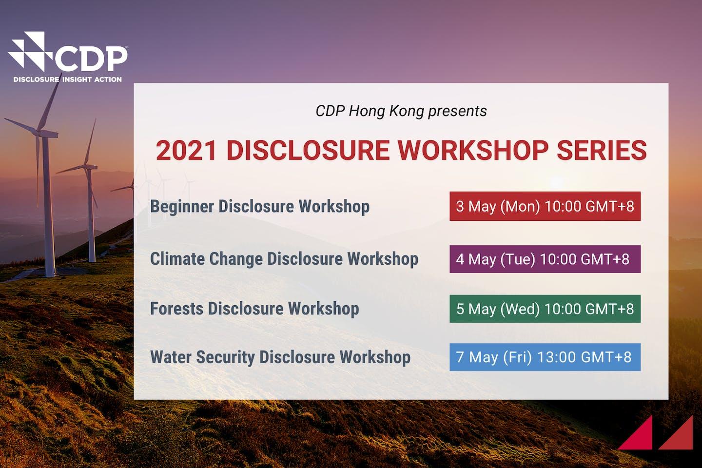 CDP's regional 2021 disclosure workshop webinars | 3-7 May
