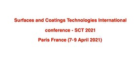 Surfaces and Coatings Technologies International conference
