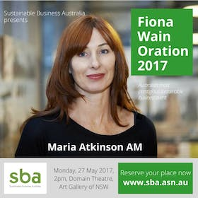 Fiona Wain Oration 2017 delivered by Maria Atkinson AM