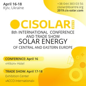 8th International Solar Energy Conference and Trade Show of Central and Eastern Europe CISOLAR 2019