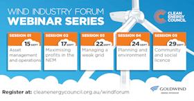 Wind industry forum webinar series
