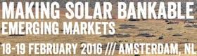 Making Solar Bankable: Emerging Markets 2016