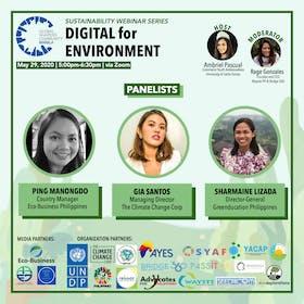 Sustainability Webinar Series: Digital for Environment