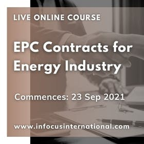 EPC contracts for energy industry live online course