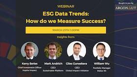 Webinar: ESG Data Trends: How do we measure success?