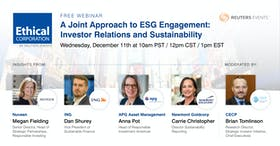 Webinar: A Joint Approach to ESG Engagement: Investor Relations and Sustainability