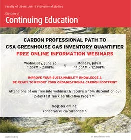 Free Online Information Webinar - Carbon Professional Path