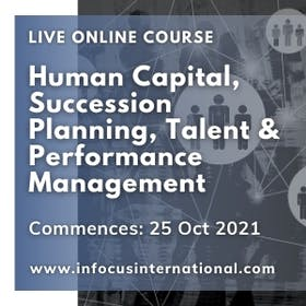 Human capital, succession planning, talent & performance management live online course