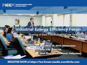 Industrial Energy Efficiency Forum - Manila