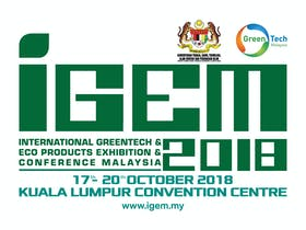 International Greentech & Eco Products Exhibition & Conference Malaysia (IGEM 2018)