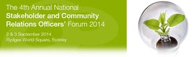 The 4th Annual National Stakeholder and Community Relations Officers' Forum 2014
