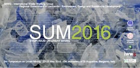 SUM 2016 - 3rd Symposium on Urban Mining