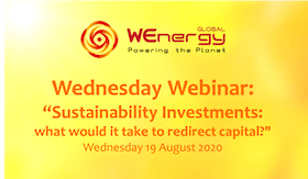 "WEnergy Global Webinar ""Sustainability Investments: what would it take to redirect capital?"""