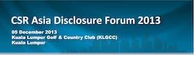 CSR Asia Disclosure Forum 2013