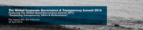 The Global Corporate Governance & Transparency Summit ft. The Global Good Governance Award 2016