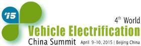 4th World Vehicle Electrification China Summit 2015