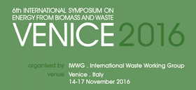 Venice 2016 - 6th International Symposium on Energy from Biomass and Waste