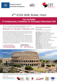 ICSD 2018 : 6th International Conference on Sustainable Development