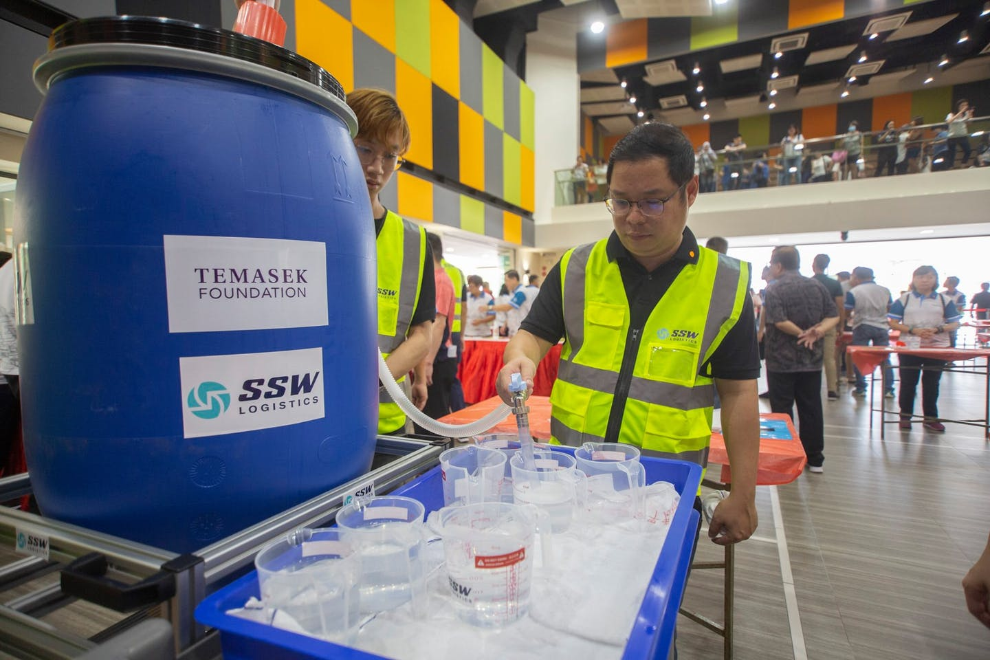 Temasek Foundation partners People's Association, corporates, unions, universities and community organisations to provide free hand sanitiser to Singapore households