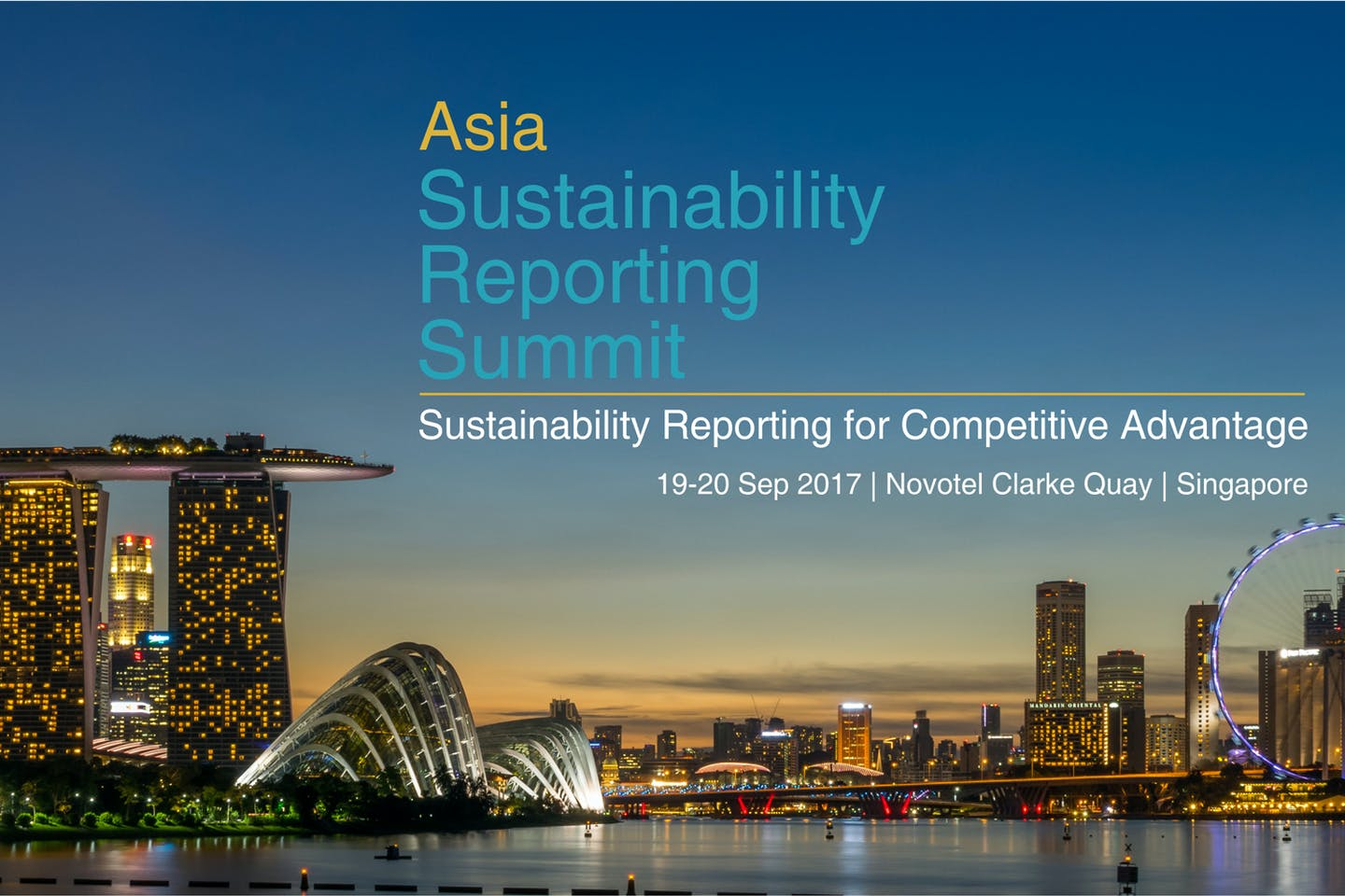 More than 50 top speakers to address Asia's first sustainability reporting conference
