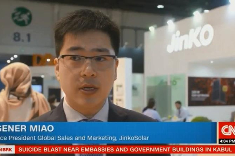 JinkoSolar interviewed by CNN as global leader in solar