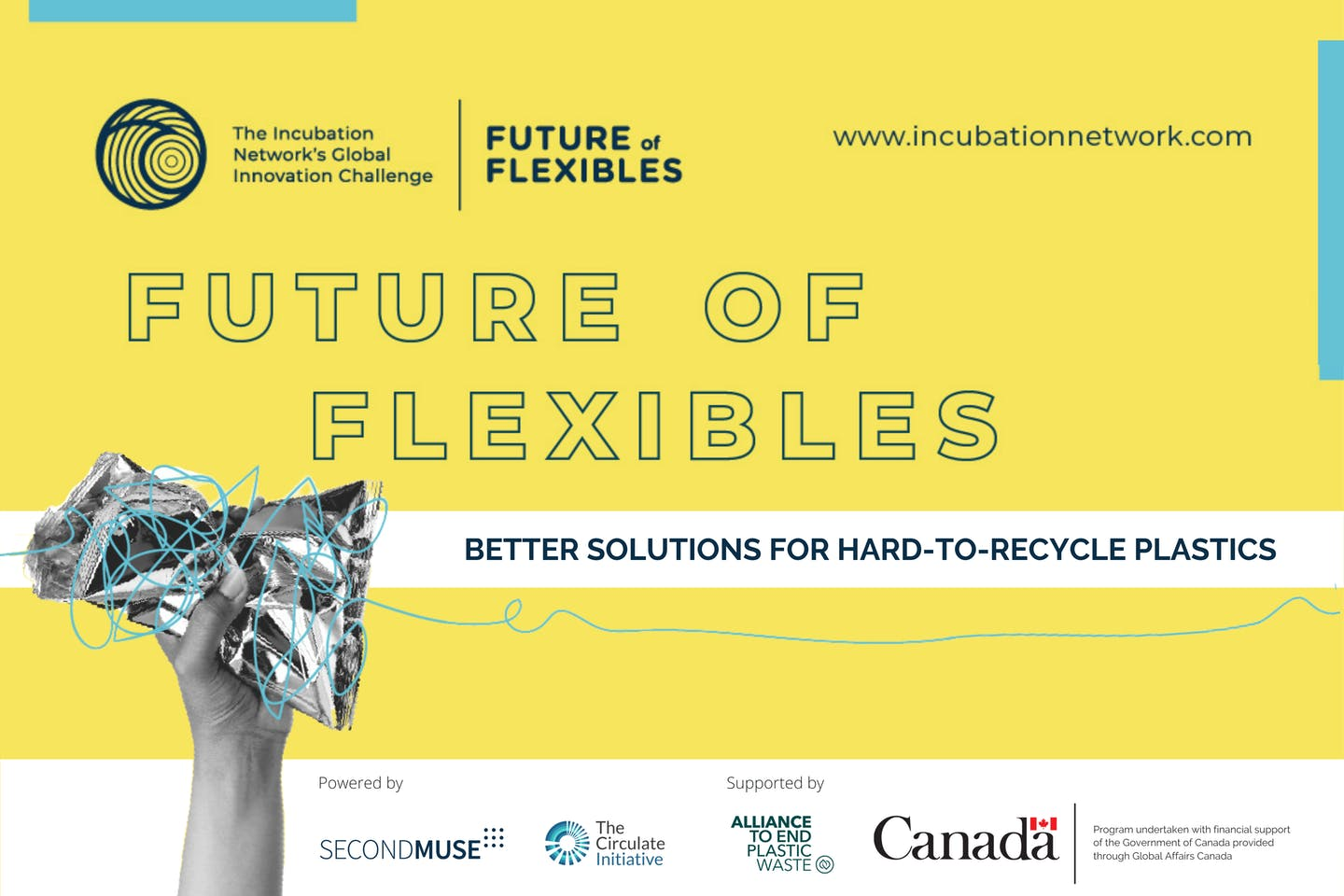 Ventures to receive growth support from The Incubation Network to tackle flexible plastic waste