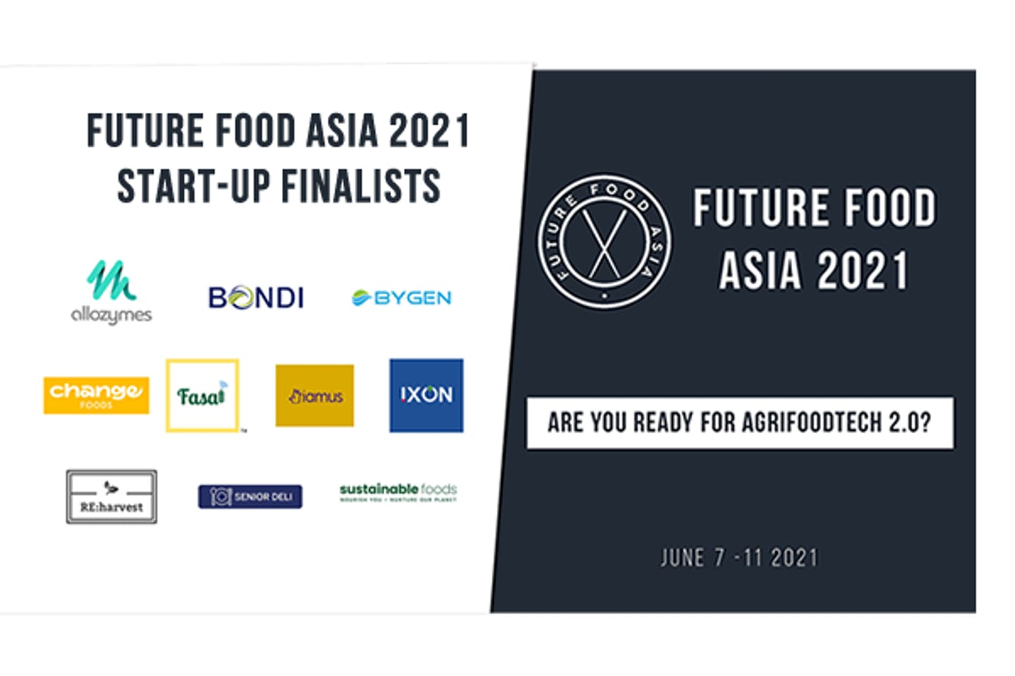 Announcing the 10 AgriFoodTech startup finalists competing for the US$100,000 Future Food Asia Award 2021