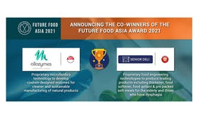 Singapore-based Allozymes and Hong Kong-based Senior Deli announced as co-winners at Future Food Asia 2021
