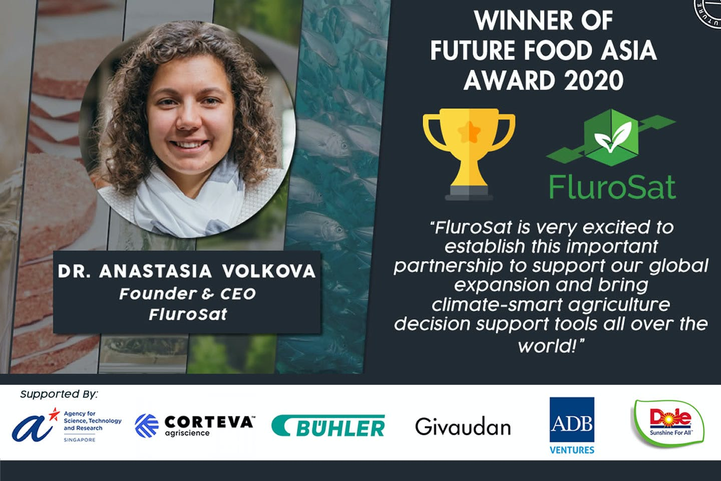 FluroSat from Australia wins Future Food Asia 2020