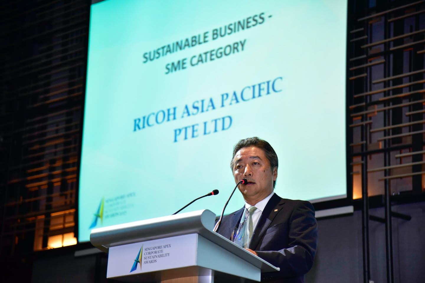 Ricoh Asia Pacific receives the Singapore Apex Corporate Sustainability Awards 2017 for its sustainable business practices
