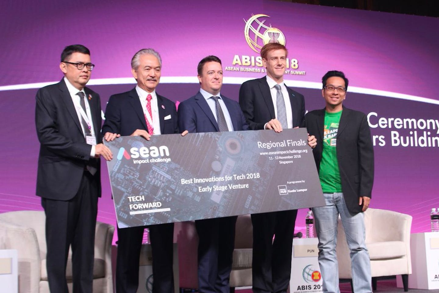 Positive Energy Ltd wins first prize at ASEAN Impact Challenge 2018 for its renewable energy finance platform