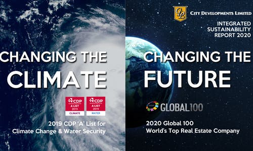 CDL Integrated Sustainability Report 2020 discloses ESG performance aligned with global standards, and strategy to accelerate climate action in the built environment