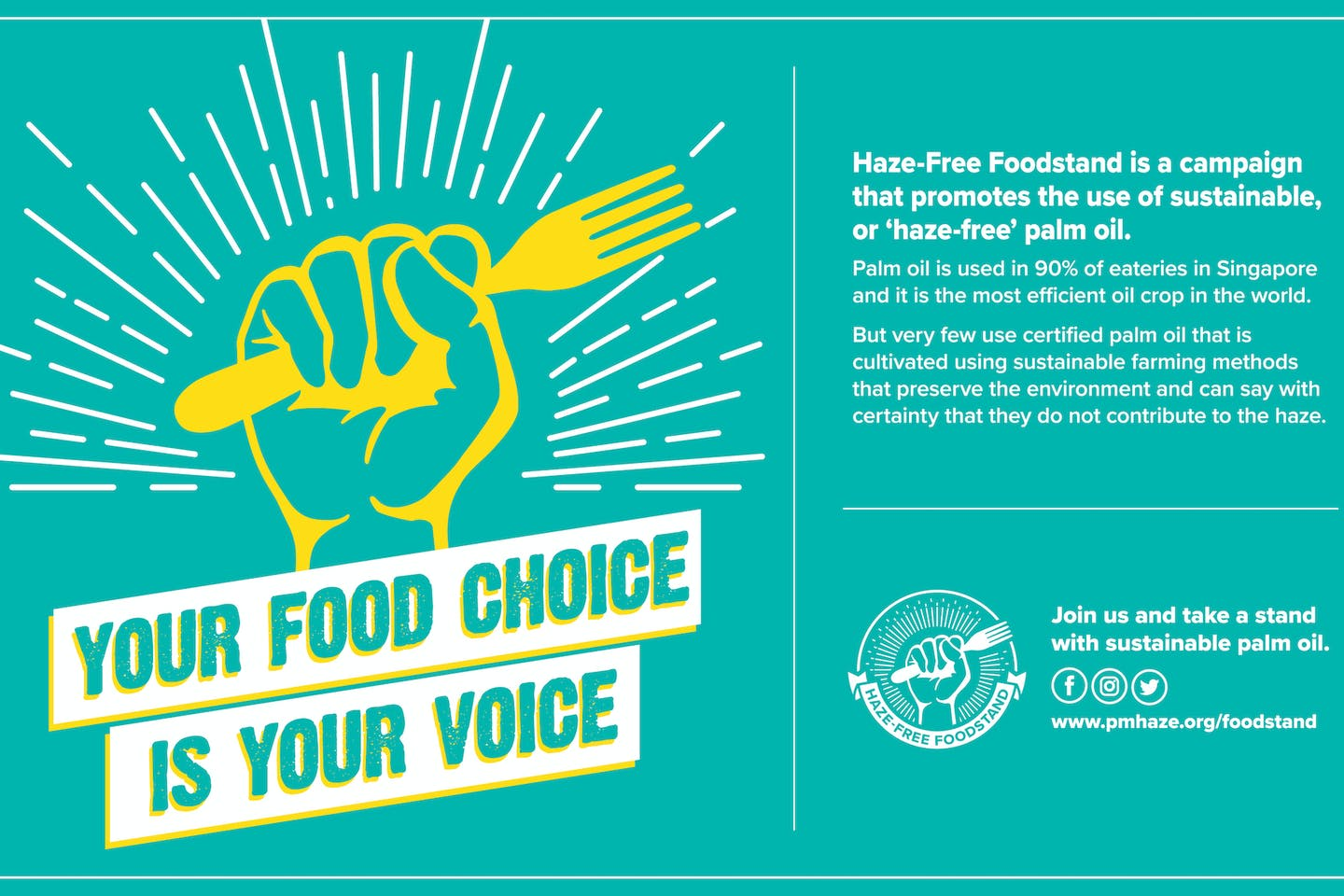 PM Haze launches haze-free foodstand campaign, encourages greater adoption of sustainable palm oil
