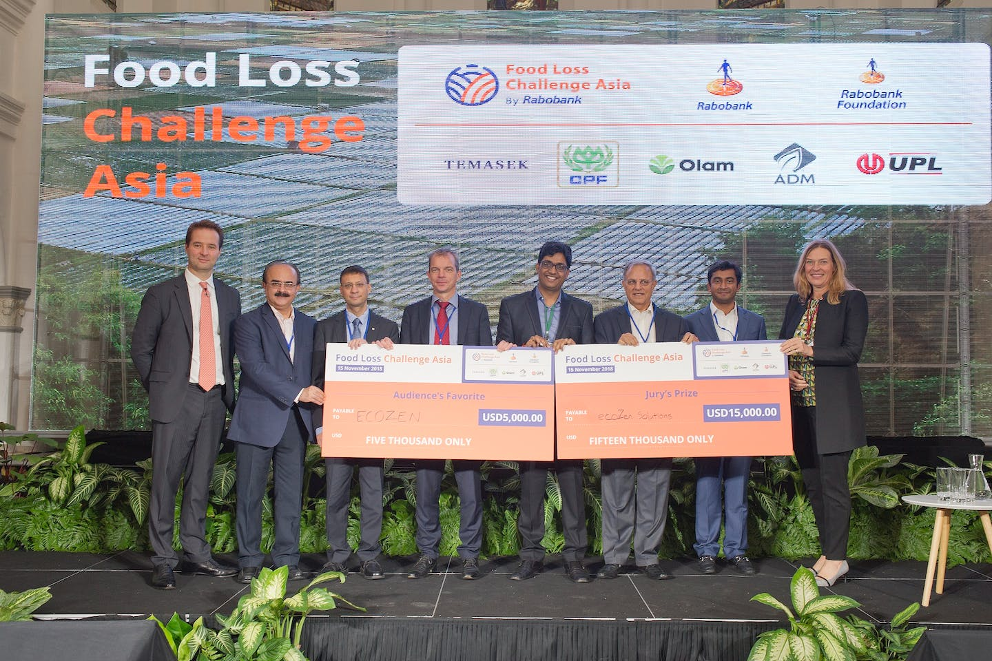 India's Ecozen wins inaugural Rabobank Food Loss Challenge Asia