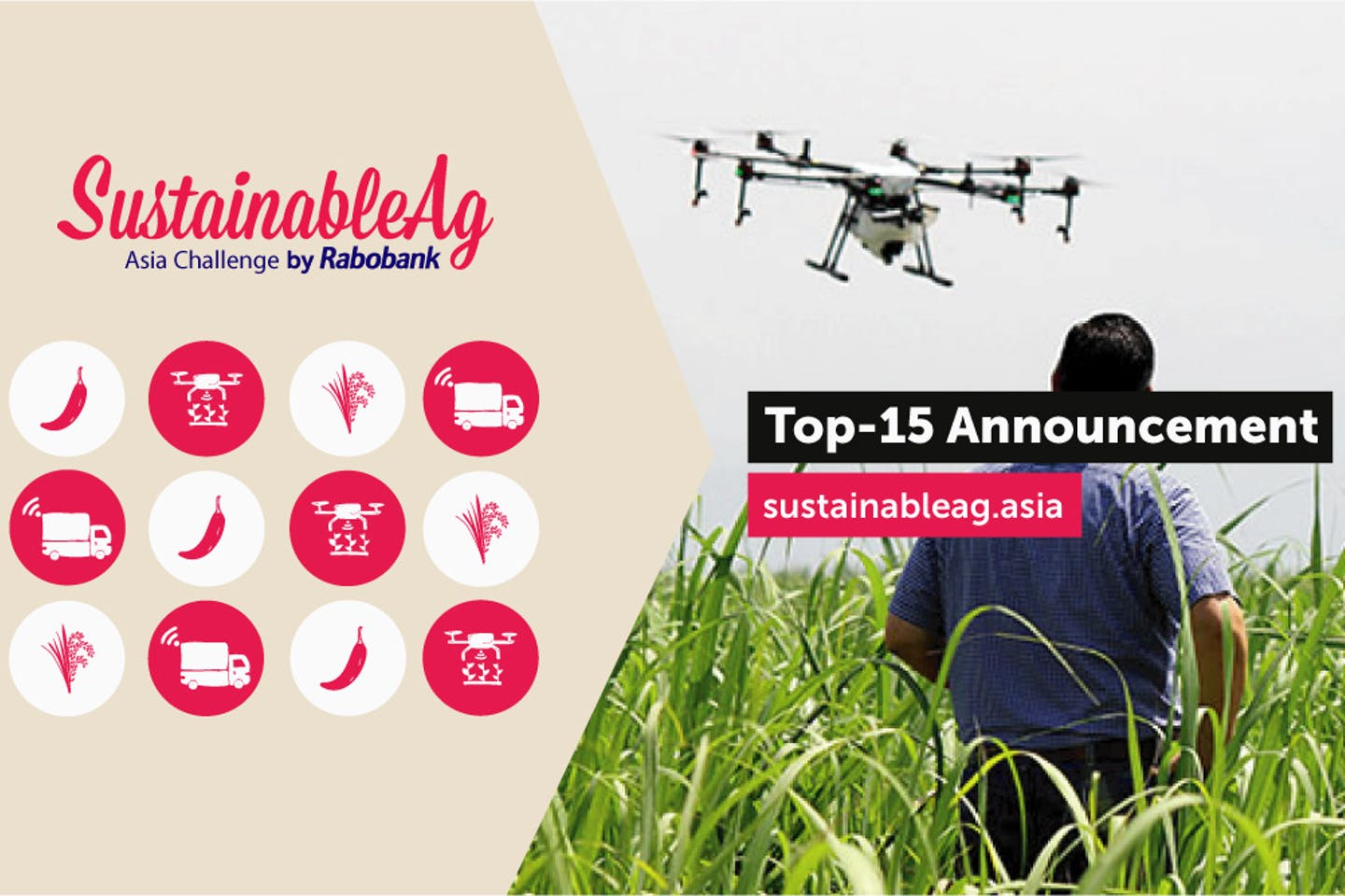 Rabobank announces 15 Agri-tech Start-ups and Innovators  for SustainableAg Asia Challenge