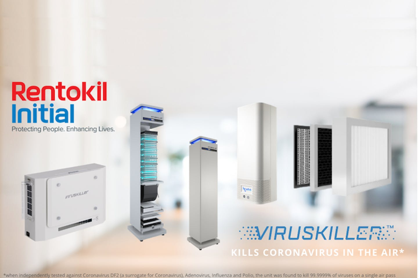 Rentokil Initial launches VIRUSKILLER™ air decontamination for complete indoor air safety