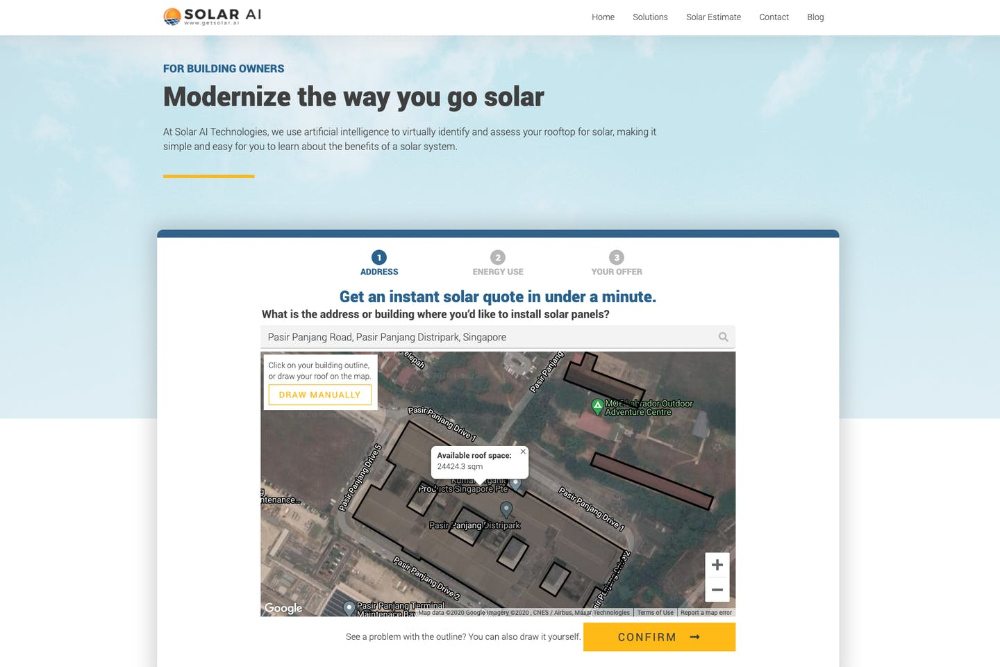 Singapore startup launches instant rooftop solar assessment tool