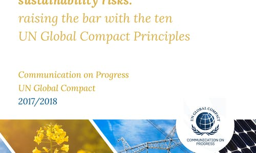 Vigeo Eiris publishes its UN Global Compact 'Communication on Progress' for 2017-18