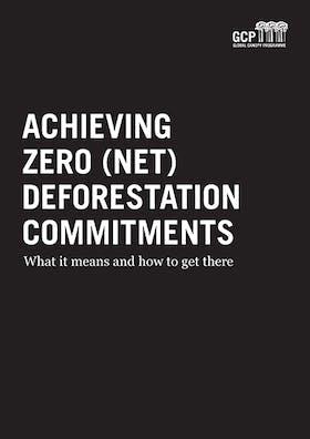 Achieving zero (net) deforestation commitments
