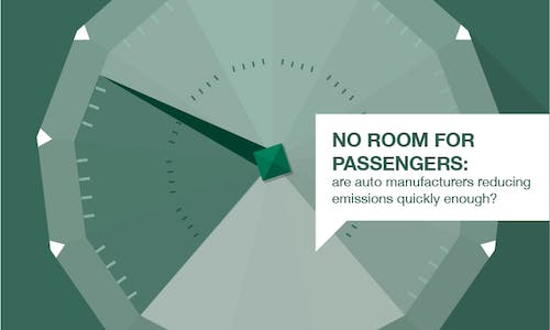 No room for passengers: are auto manufacturers reducing emissions quickly enough?